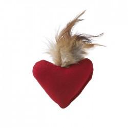 Jouet peluche coeur et plumes