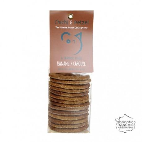 Friandises chien chat - banane caroube - biscuits naturels sans gluten