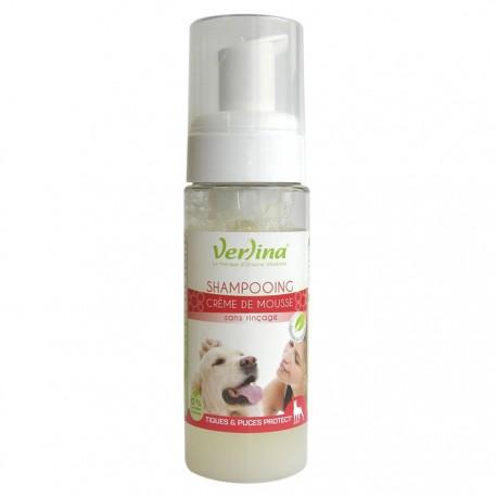 Shampooing naturel mousse tiques et puces protect' chien