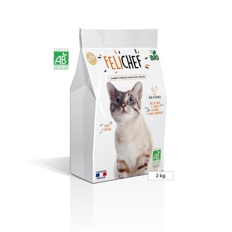 Aliment complet sans céréales pour chat adulte FELICHEF