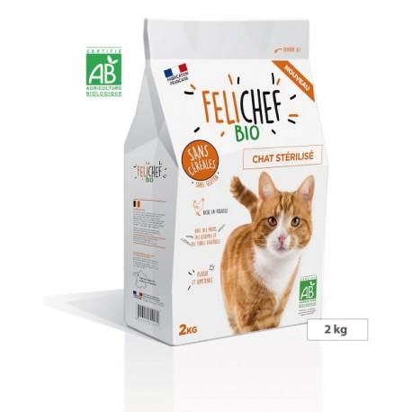 Aliment complet sans céréales pour chat stérilisé FELICHEF