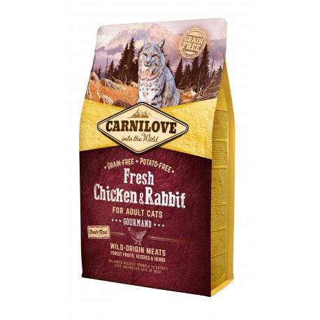 Croquettes Chat adulte Gourmand et Difficile sans céréales ni pommes de terre Carnilove