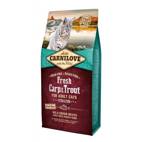 Croquettes Chat adulte Stérilisé sans céréales ni pommes de terre Carnilove