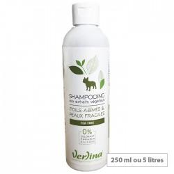 Shampooing chien poils abîmés et peaux fragiles - tea tree