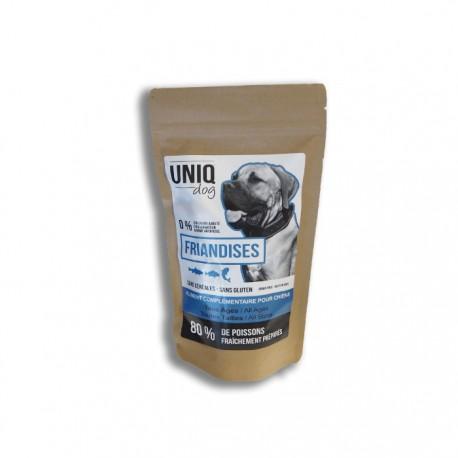 Friandises chien toutes tailles au poisson Uniq Dog