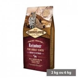 Croquettes Chat adulte Actif (renne) sans céréales Carnilove