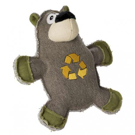 Jouet peluche canvas recyclé ours
