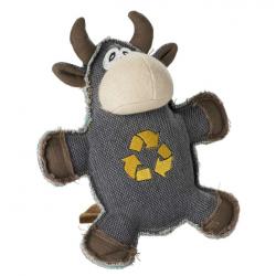 Jouet peluche canvas recyclé boeuf