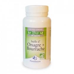 Huile d'onagre + bourrache Bio Complément alimentaire Physio Sources