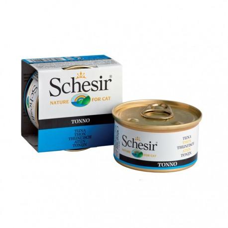Pâtée Schésir chats-Thon en gelée boîte