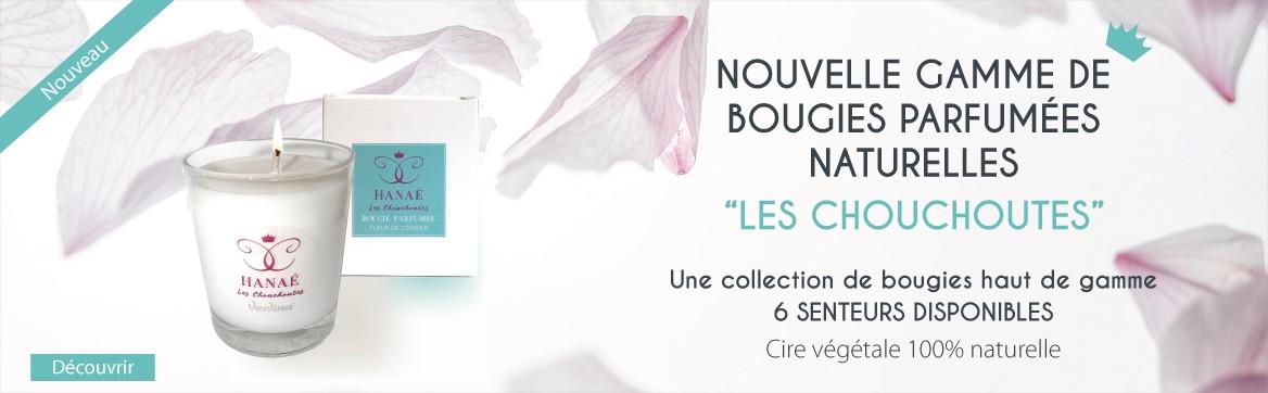 Nouvelle gamme de bougies parfumées naturelles Les Chouchoutes