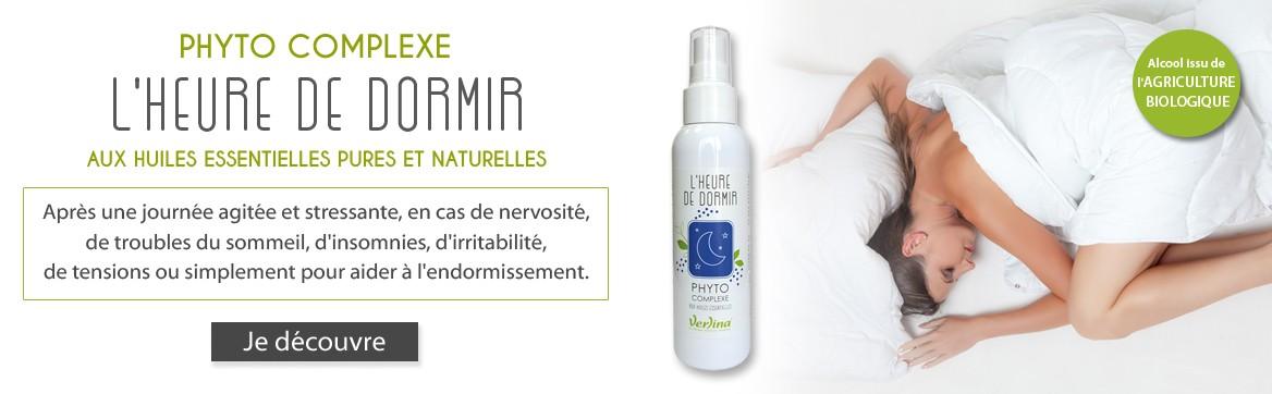 Phyto Complexe aux huiles essentielles pures et naturelles L'heure de dormir