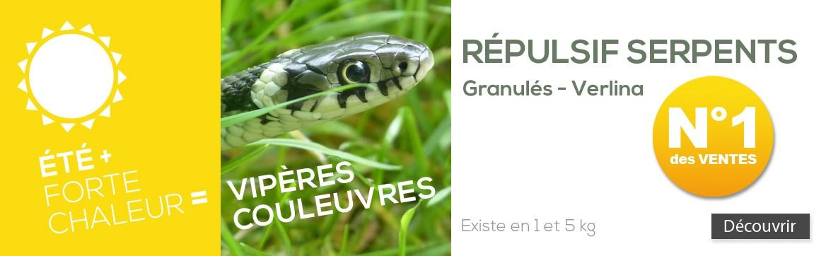 Répulsif Serpents Lézards - vipères couleuvres