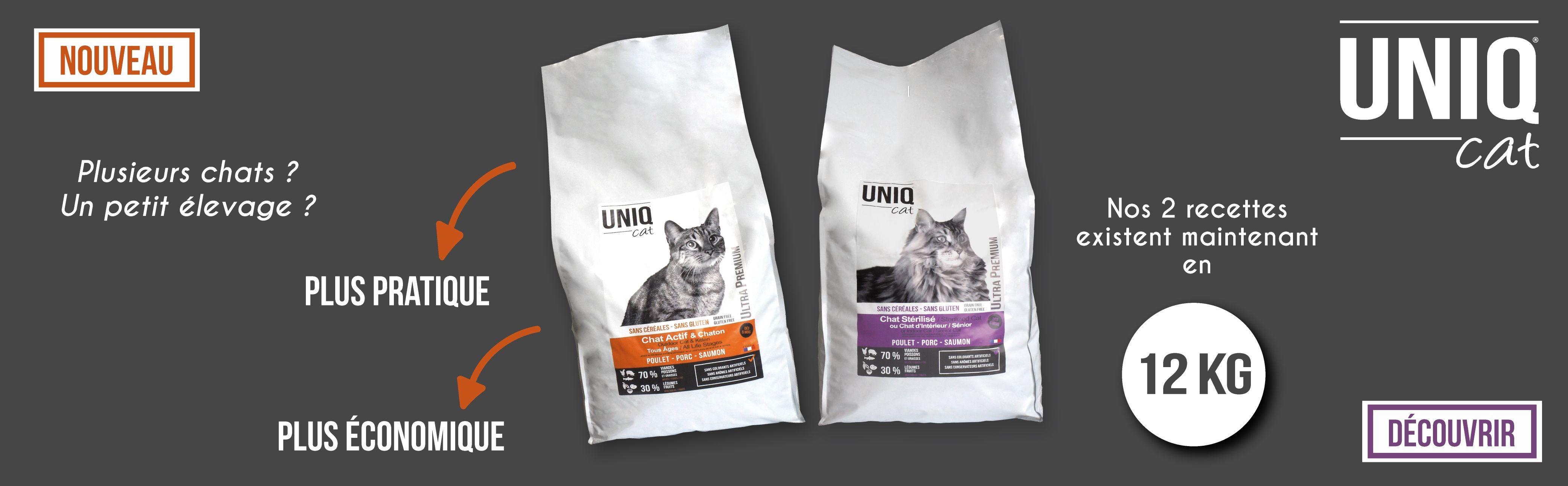 Croquettes pour chats UNIQ Cat en 12 kg