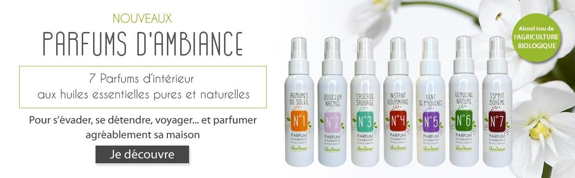Parfums d'intérieur aux huiles essentielles pures et naturelles