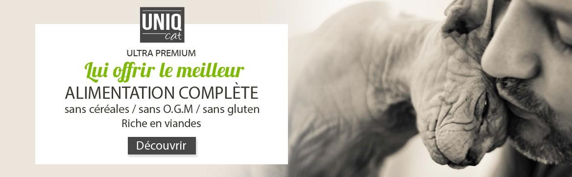 Uniq Dog croquettes sans céréales ultra premium pour chats