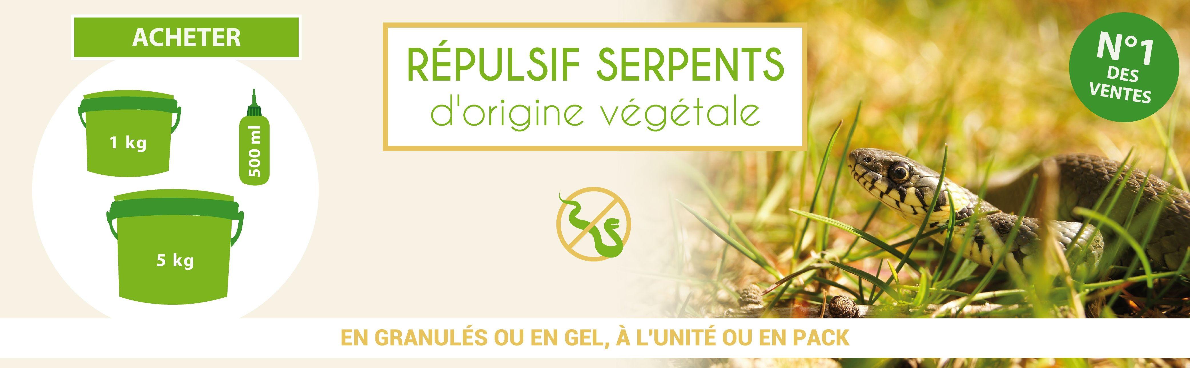 Répulsif serpents d'origine végétale N°1 des ventes