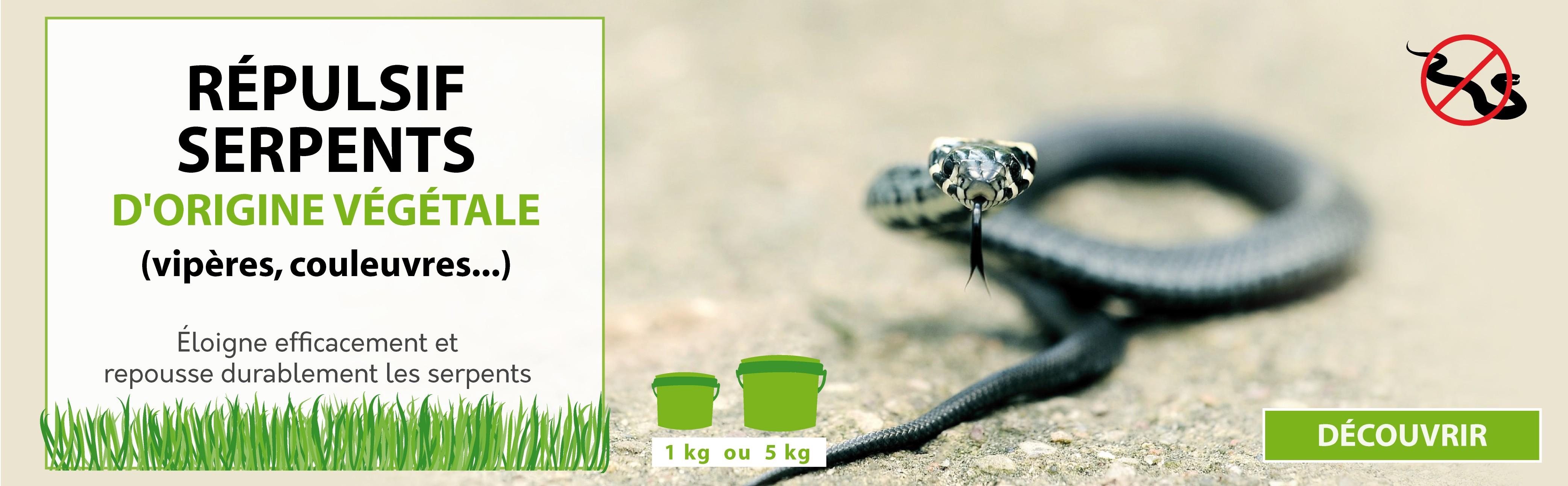 Répulsif serpents d'origine végétale